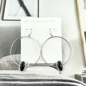Kendra Scott Elora black silver earrings